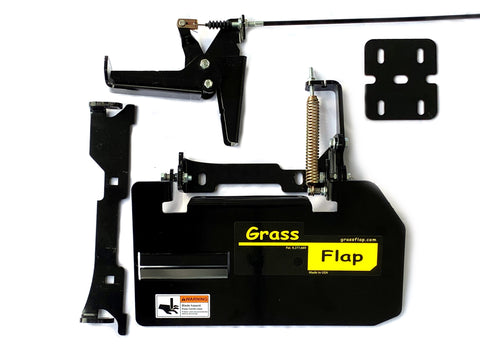 42H70-6 GrassFlap for Exmark Vantage with No-Drill Flap Mount & RE Pedal