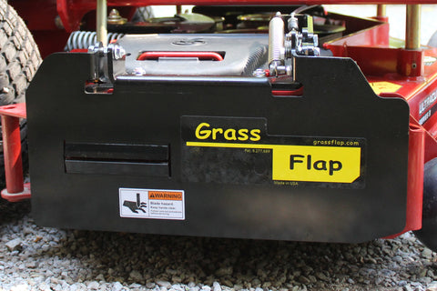 42B70-2 GrassFlap for Exmark with No-Drill Flap Mount & BE Pedal