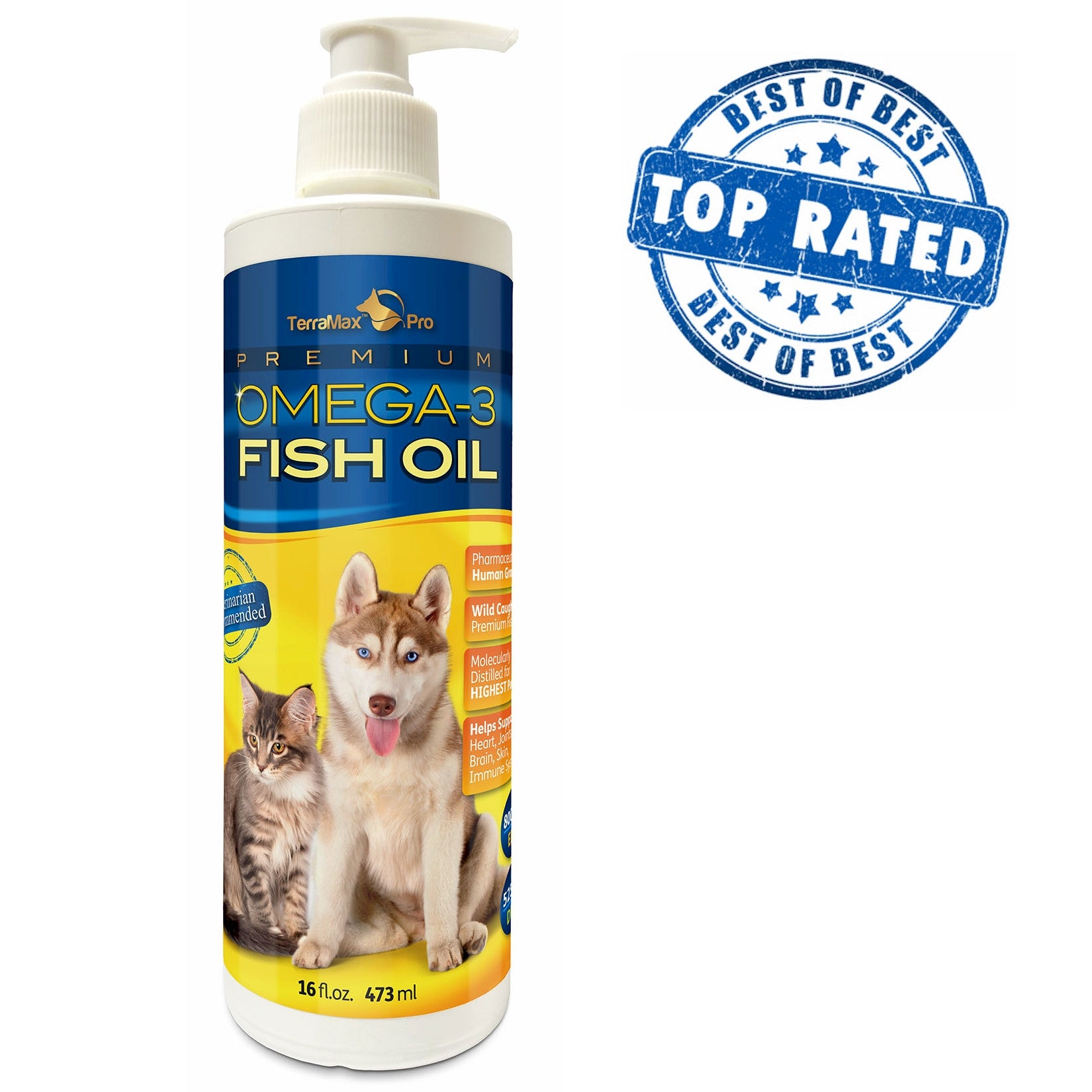 Premium Omega 3 Fish Oil For Dogs And Cats Terramax Pro