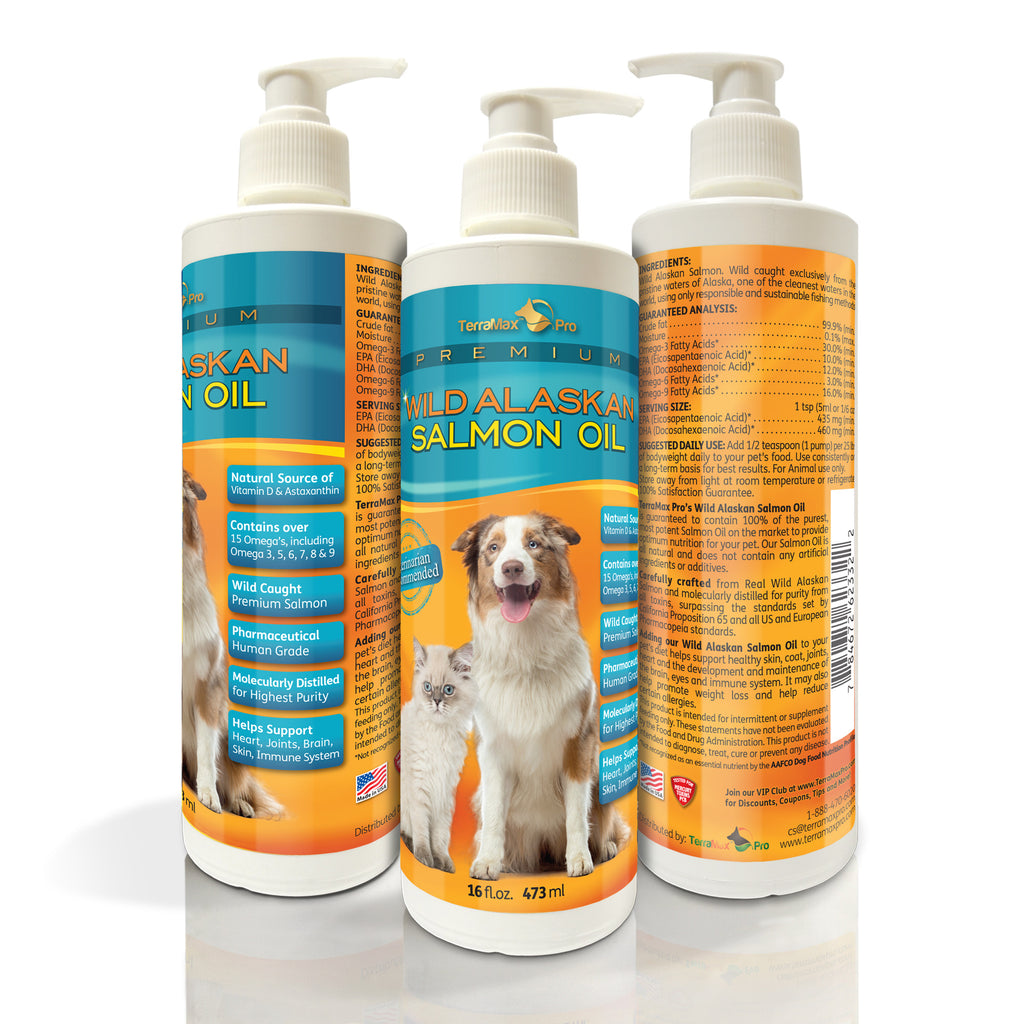 Premium Wild Alaskan Salmon Oil for Dogs and Cats
