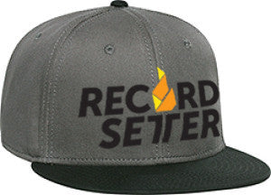 """Record Setter Logo"" Charcoal Grey Snapback Hat"