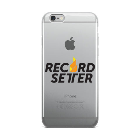 """Record Setter Logo"" iPhone case"