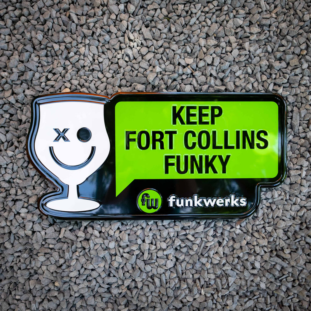 Keep Fort Collins Funky Tin Tacker