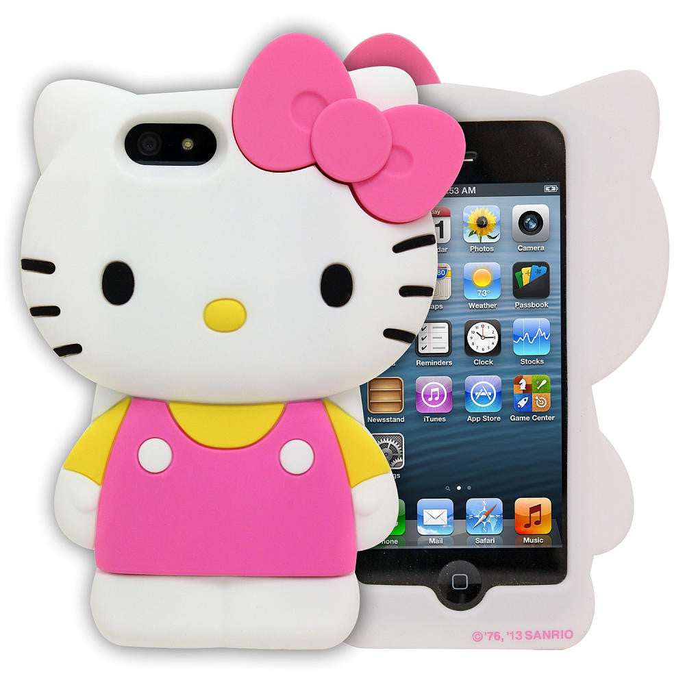 new styles f1b58 7da1f Hello Kitty - Hello Kitty Large Silicone Case for iPhone SE / 5s / 5