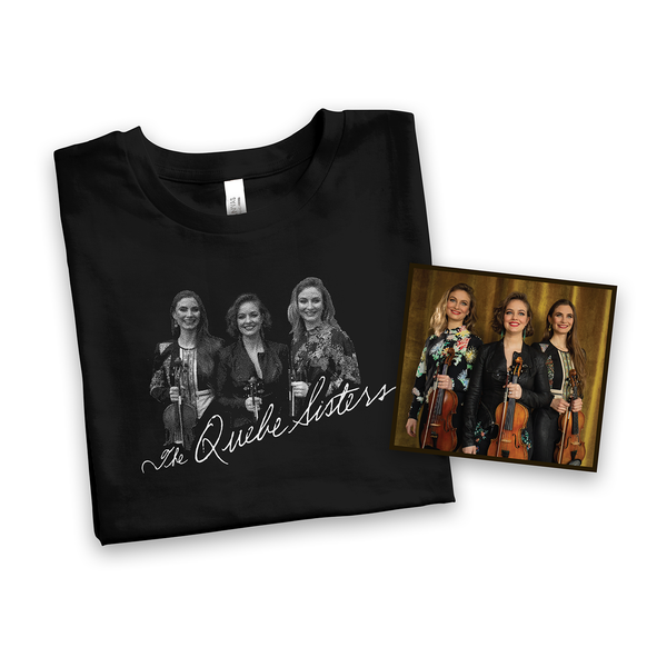 The Quebe Sisters - Black Trio Tee + Signed CD Bundle