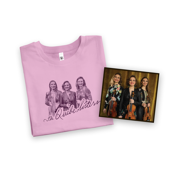 The Quebe Sisters - Lilac Trio Tee + Signed CD Bundle