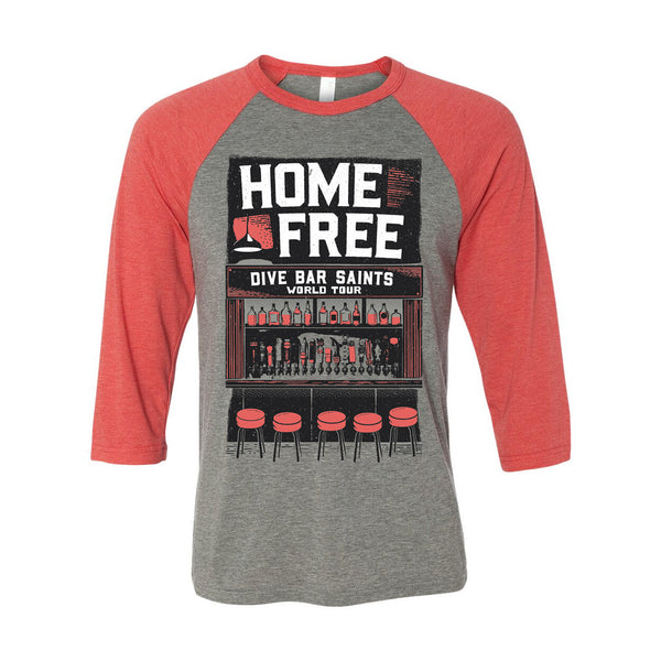 Home Free - Dive Bar Saints World Tour Baseball Tee