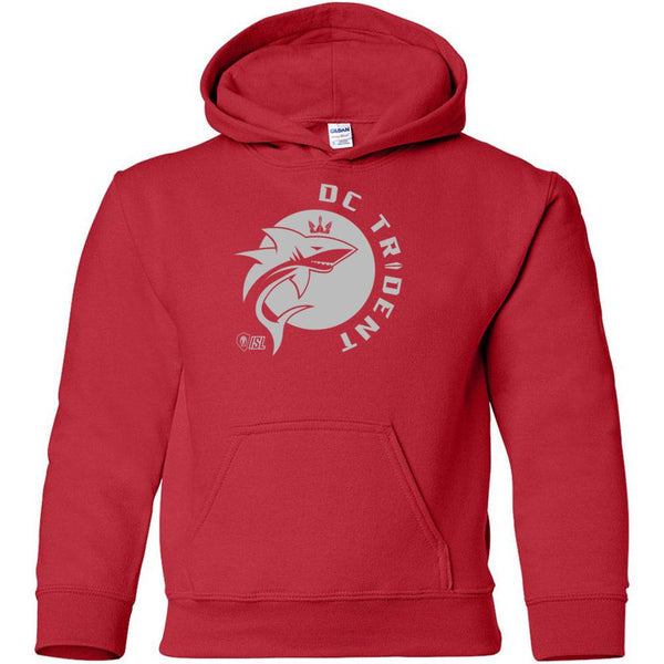DC Trident - Red Heavy Blend Youth Hooded Sweatshirt