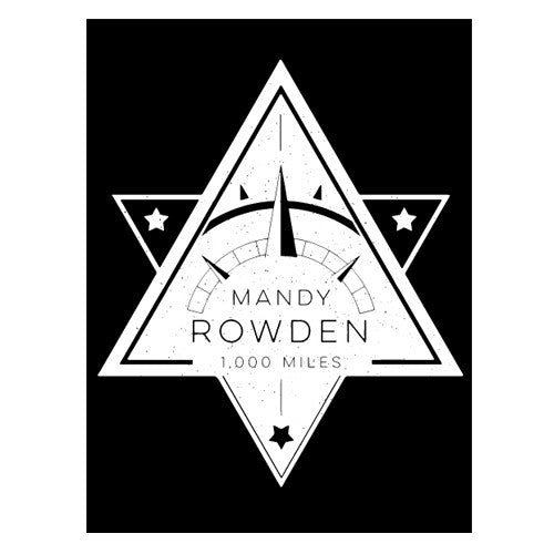 Mandy Rowden - 1000 Miles Sticker (Black)