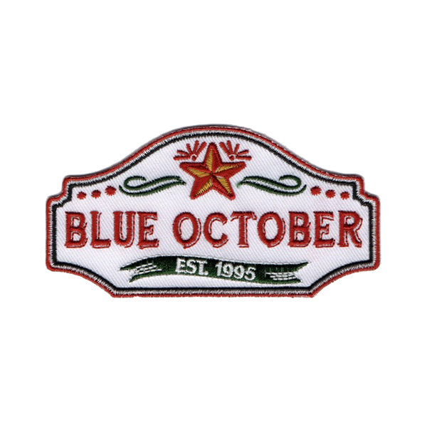 Blue October - Established 1995 Logo Patch