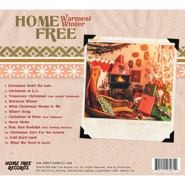 Home Free - Warmest Winter Autographed CD (PRESALE 11/06/20)