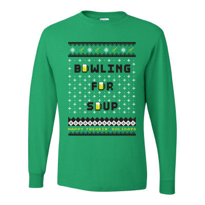 Bowling For Soup - Fake Christmas Sweater Tee (Green)