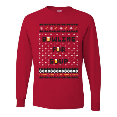 Bowling For Soup - Fake Christmas Sweater Tee (Red)