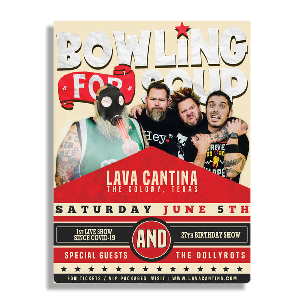 Bowling For Soup - Lava Cantina 27th Birthday Show Poster (PRESALE 06/05/21)