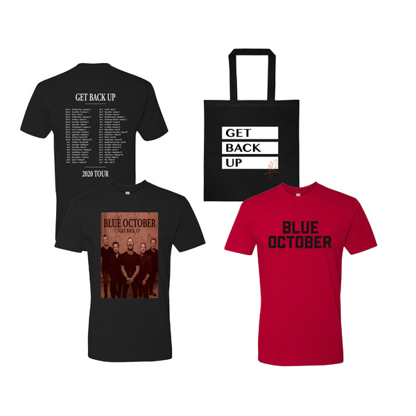 Blue October - Get Back Up Tee & Tote Bundle