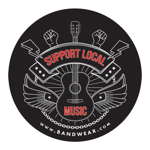 "Support Local Music -  Support Local 3"" Sticker"