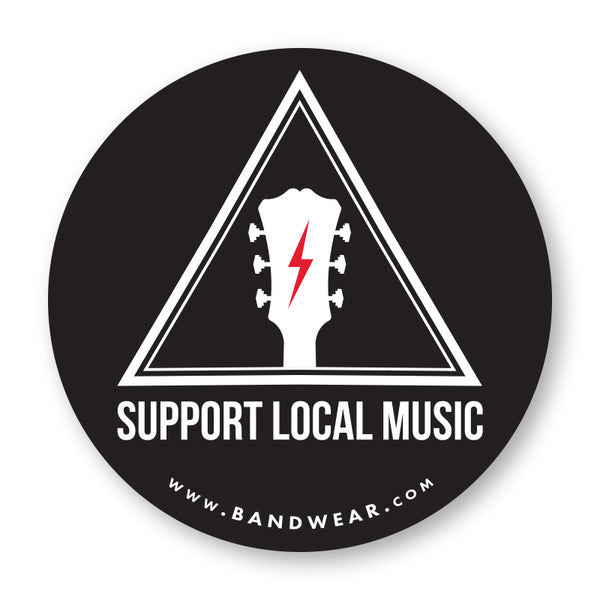 Support Local Music - Warning Sign Logo Sticker