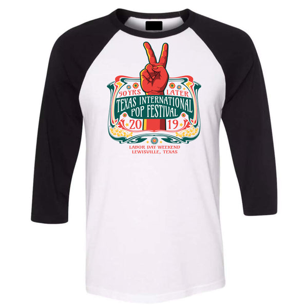 Texas International Pop Festival - Logo Baseball Tee