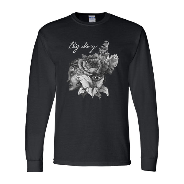 Big Story - Rose Face Long Sleeve (Black)