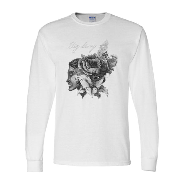 Big Story - Rose Face Long Sleeve (White)