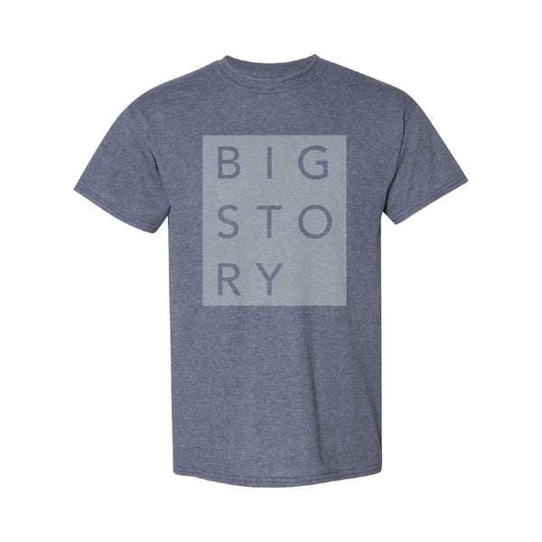 Big Story - Block Letter Tee (Heather Navy)