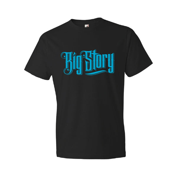 Big Story - Band Logo Soft Tee (Blue on Black)