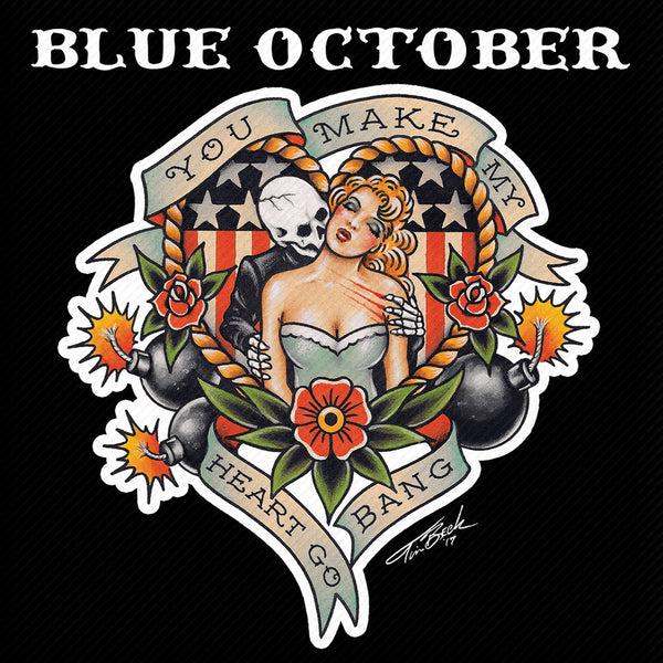 Blue October - Heart Go Bang Sticker