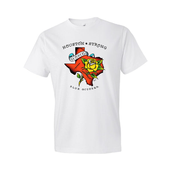 Blue October - Houston Recovery Tee (White) PRESALE