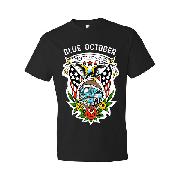 Blue October - I Want It Tour Tee (Small Only)