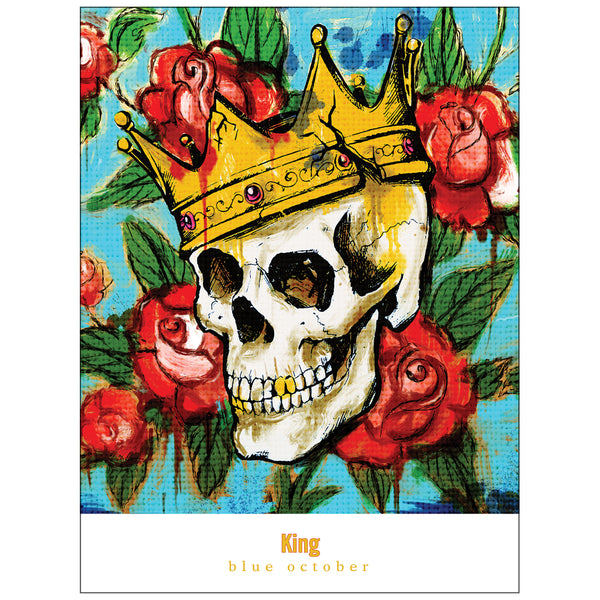 Blue October - King Screen Print Poster