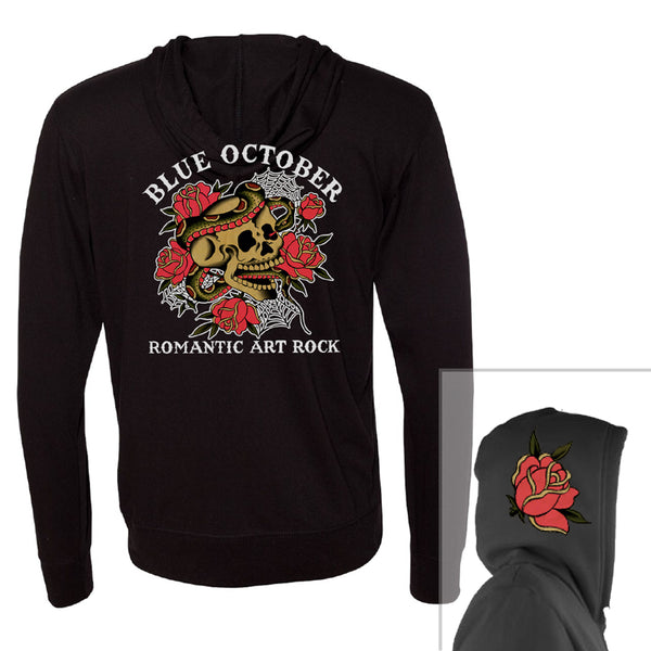Blue October - Romantic Art Rock Lightweight Hoodie