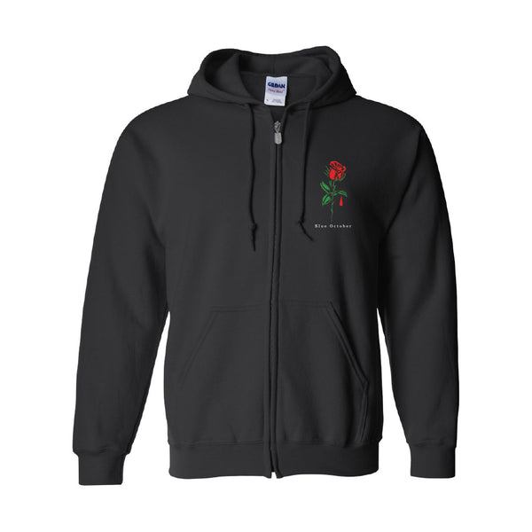 Blue October - Salford Rose Fleece Hoodie
