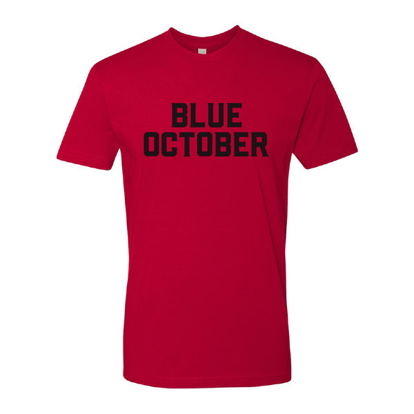 Blue October - Block Text Tee (Red)