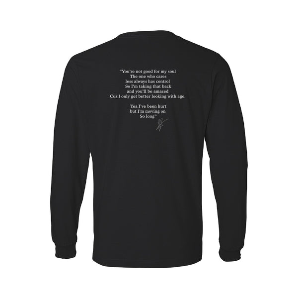 Blue October - Moving On Long Sleeve Lyric Tee