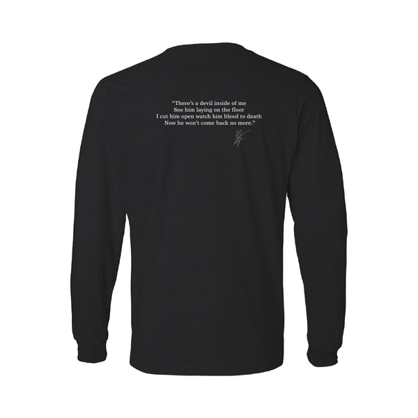 Blue October - Who Do You Run From? Long Sleeve Lyric Tee