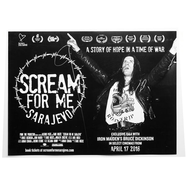 Bruce Dickinson - Scream For Me Sarajevo Poster