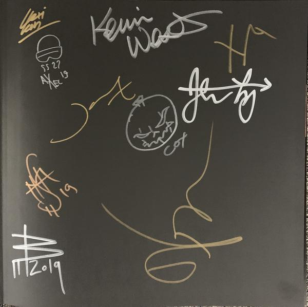 "Megadeth: Death By Design w/ 4 clear vinyl ""Warheads On Foreheads"" album set signed by Full Band + 11 Artists (SDCC 2019)"