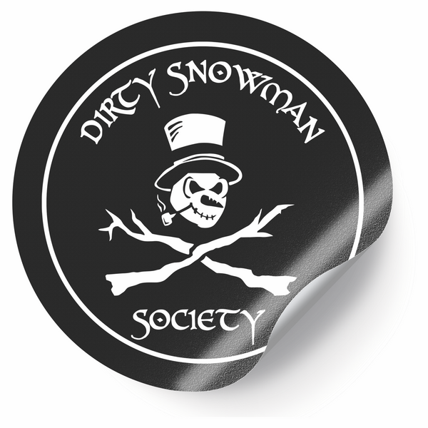 Dirty Snowman Society - Skull and Crossbones Circle Sticker (PRESALE 05/17/2021)