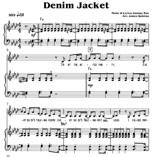 Sammy Rae - Denim Jacket Transcription Download