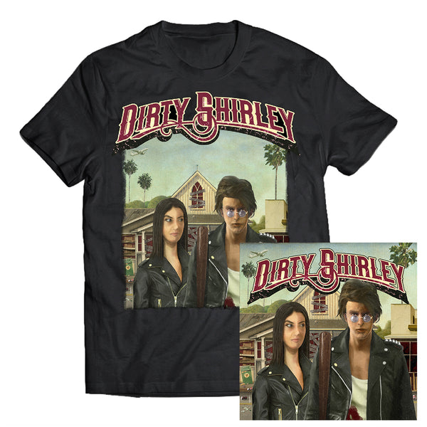 Dirty Shirley - Album Artwork Tee + LP Bundle (PRESALE 01/24/20)