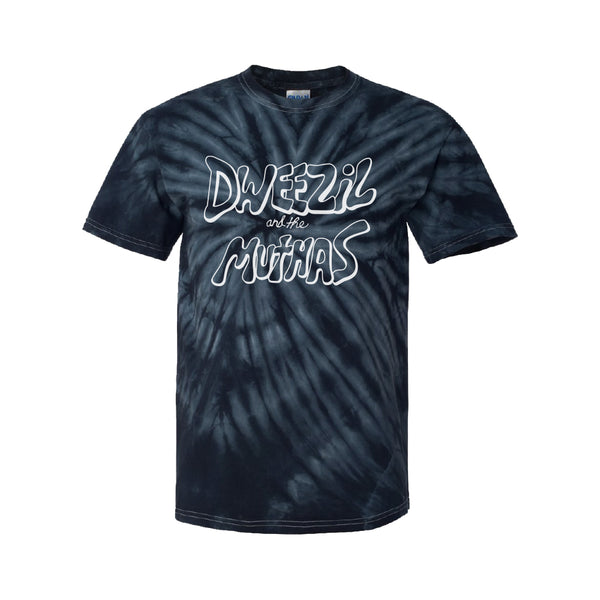 Dweezil Zappa - Dweezil and the Muthas Logo Tee (Black Tie Dye)