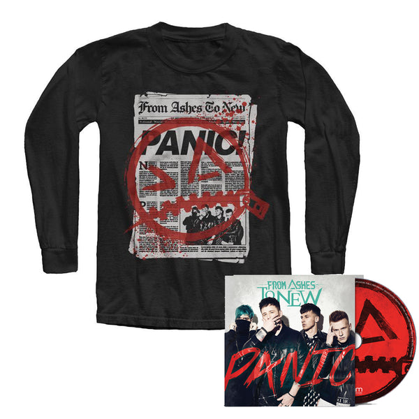 From Ashes to New - BUNDLE #3 - Long sleeve News T + Panic CD + Hi-Res Digital Download (PRESALE 08/28/2020)