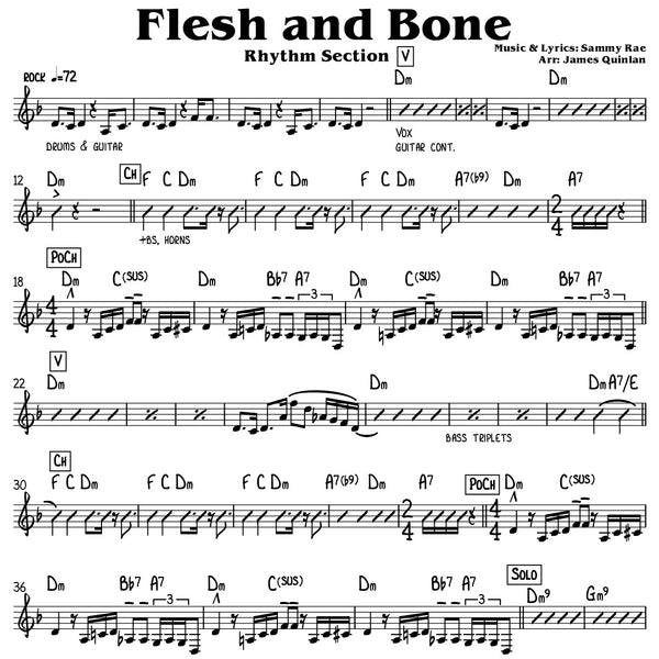 Sammy Rae - Flesh & Bone Transcription Download