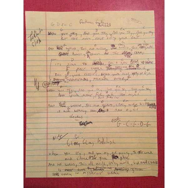 Tex Smith - Gentleman's Farewell Lyric Sheet