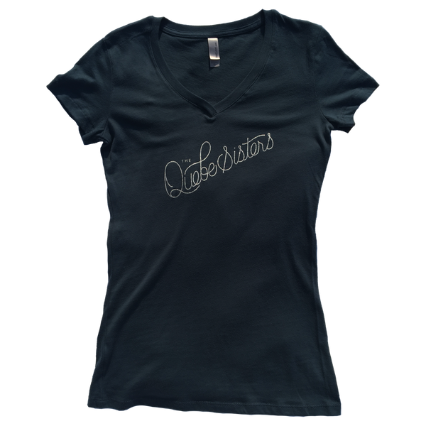 The Quebe Sisters - Indigo Girl Cut Logo Script Tee