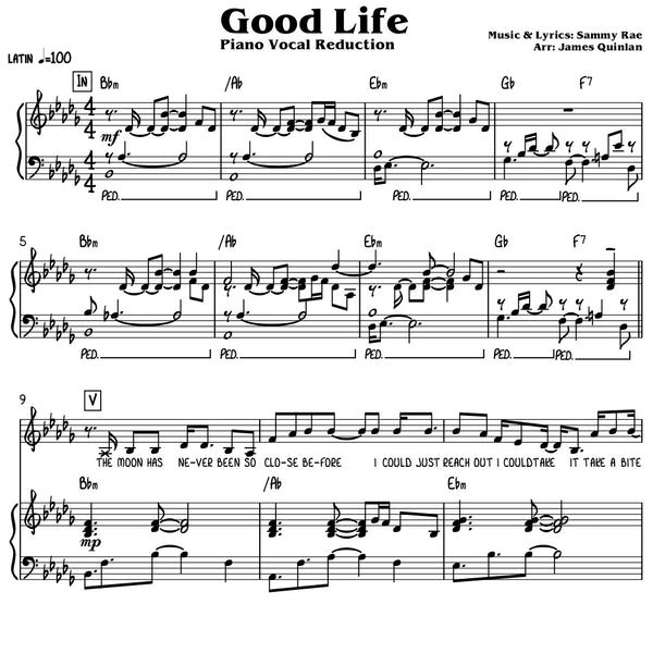 Sammy Rae - Good Life Transcription Download