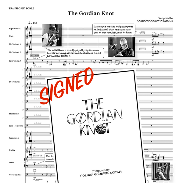 Gordon Goodwin's Big Phat Band - The Gordian Knot Signed Souvenir Score Book
