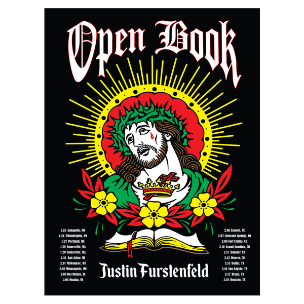 Justin Furstenfeld - Open Book 2018 Winter Tour Poster