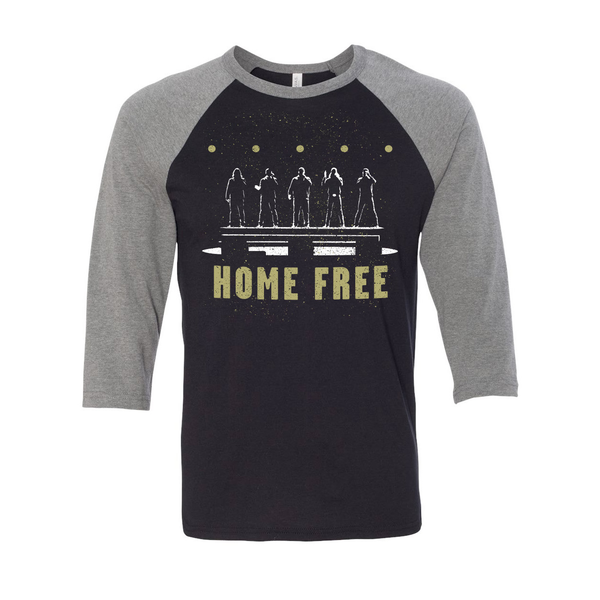 Home Free - Silhouette Baseball Tee - Grey/Black