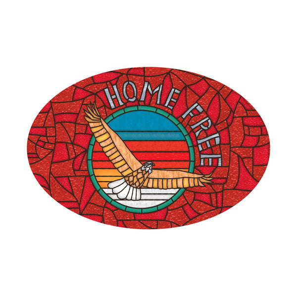 Home Free - Stained Glass Sticker